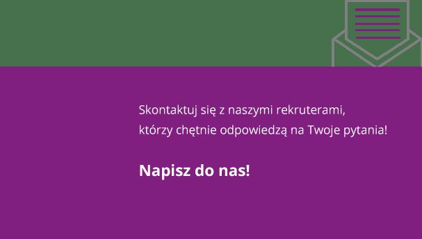 Napisz do nas praca IT Gdańsk Gdynia Sopot Trójmiasto